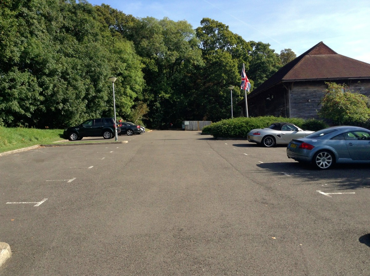 High Hurstwood Hall car park
