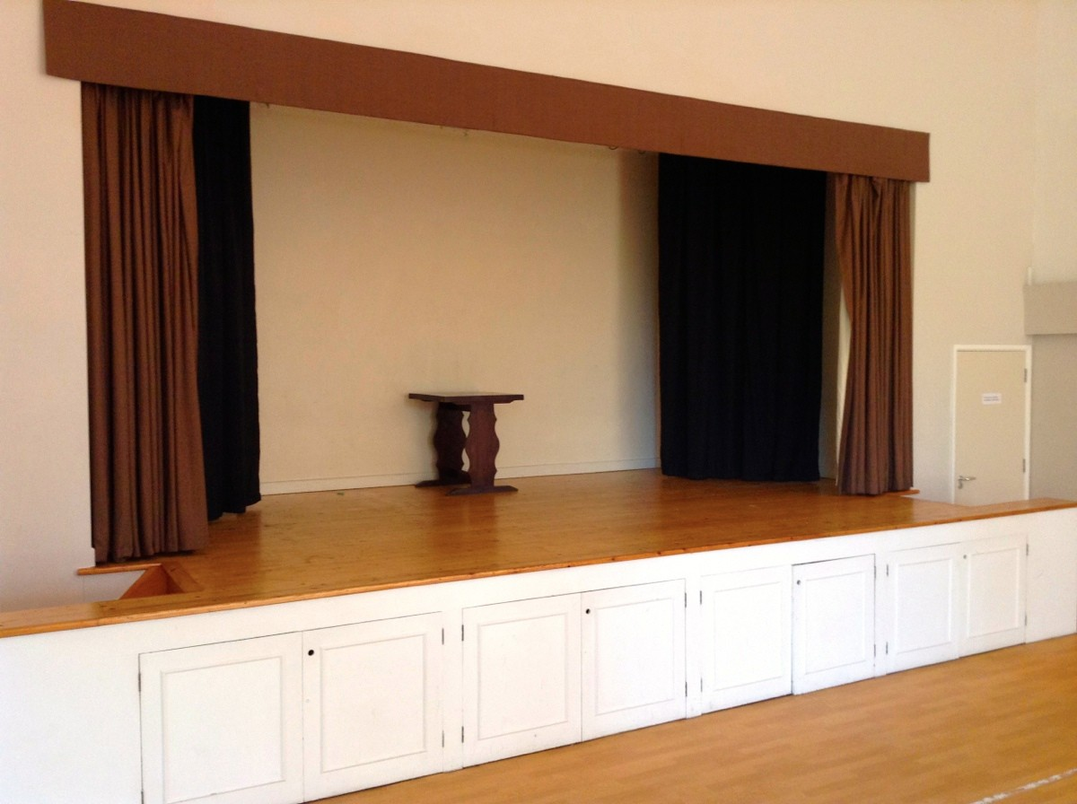 High Hurstwood Village Hall stage