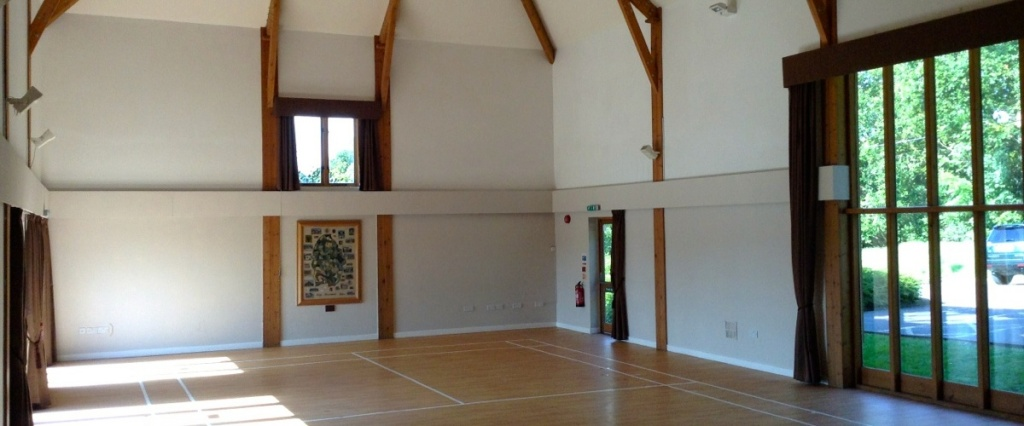 High Hurstwood Village Hall, inside